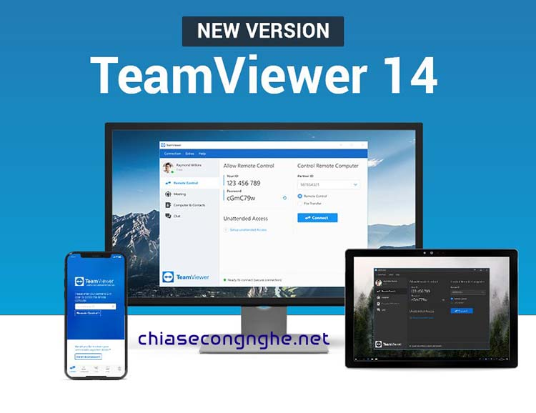 Download TeamViewer 14 Full + Portable
