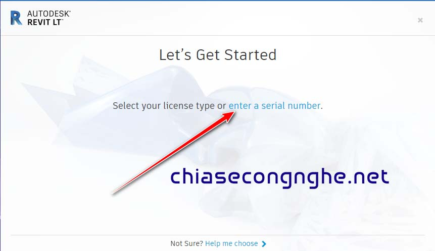 Chọn Enter a Serial Number